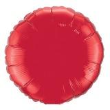 "Rundluftballon, Folie, 36"" - 90 cm, Rubinrot"