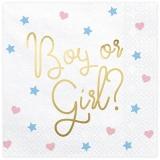 Servietten Boy or Girl, 20 Stück Packung