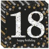 Servietten Happy Birthday Sparkling Gold 18, 16 Stück Packung