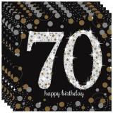 Servietten Happy Birthday Sparkling Gold 70, 16 Stück Packung