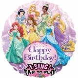 Folien-Luftballon Princess Happy Birthday, Musikballon