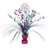 Tischdekoration Happy Birthday Pink & Teal, 1 Stück