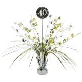 Tischdekoration Happy Birthday Sparkling Gold 40, 1 Stück