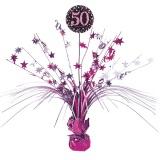 Tischdekoration Happy Birthday Sparkling Pink 50, 1 Stück