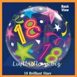 PVC-Ballons, Happy Birthday 18, Brilliant Stars