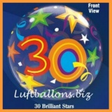 PVC-Ballons, Happy Birthday 30, Brilliant Stars