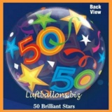 PVC-Ballons, Happy Birthday 50, Brilliant Stars