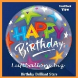 PVC-Ballons, Happy Birthday, Brilliant Stars