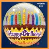 PVC-Ballons, Happy Birthday, Geburtstagskerzen
