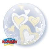 Doppel-PVC-Ballons, Insider, Floating Hearts, creme