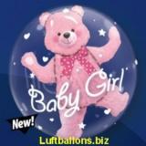 Doppel-PVC-Ballons, Insider, Baby Bär zur Geburt, Mädchen