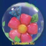 Doppel-PVC-Ballons, Insider, Blume und Schmetterling