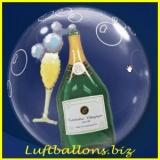 Doppel-PVC-Ballons, Insider, Champagner