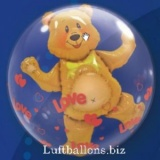 Doppel-PVC-Ballons, Insider, Bärchen mit Herzen der Liebe