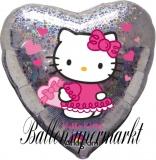 Luftballon, Folienballon, Hello Kitty Love Hearts, 45 cm, 10 Stück
