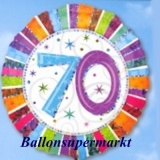Folien-Luftballon Radiant Birthday, Geburtstag 70, 5 Stück