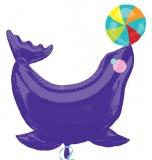 Folien-Luftballon Circus Seal, Shape, 5 Stück