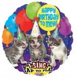 Folien-Luftballon Happy Birthday, Musikballon