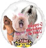 Folien-Luftballon Happy-Bark-day, Musikballon