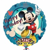 Folien-Luftballon Mickey Mouse, Musikballon,