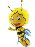 Folien-Luftballon Biene Maja, Shape, 10 Stück