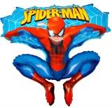 Folien-Luftballon Spiderman Sprung, Shape, 10 Stück