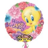 Folien-Luftballon Tweety Happy Birthday, Musikballon