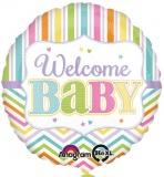 Folien-Luftballon Geburt, Welcome Baby, 43 cm, 5 Stück