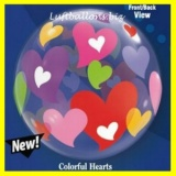 PVC-Ballons, Bunte Herzen, Colorful Hearts