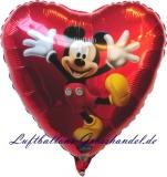 Luftballon, Folienballon, Mickey-Dancing, 45 cm, 10 Stück