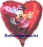 Luftballon, Folienballon, Minnie-Dancing, 45 cm, 10 stück
