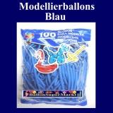 Deko-Latexballons, Modellierballons, 5 cm, Blau, 100 Stück