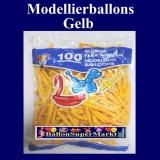 Deko-Latexballons, Modellierballons, 5 cm, Gelb, 100 Stück