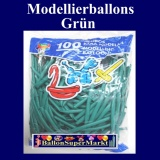 Deko-Latexballons, Modellierballons, 5 cm, Grün, 100 Stück