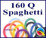 160Q Modellierballons, 2,5 x 150 cm, Spaghetti, 100 Stück