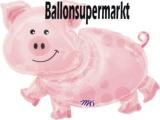 Folien-Luftballon Pig, Shape, 10 Stück