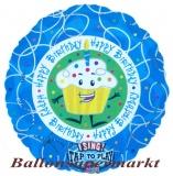 Folien-Luftballon Happy Birthday Cupcake, Musikballon