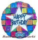 Folien-Luftballon Happy Birthday Faces, Musikballon