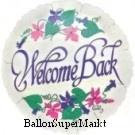 Folien-Luftballon Welcome Back, 45 cm, 5 Stück
